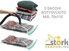 5 sacchi SOTTOVUOTO SALVA SPAZIO CAMBIO STAGIONE 70X110 SACCO SACCHETTO BUSTA