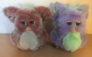 Funky Furby Lot X 2 Cream & Brown 59294 Purple & Green 62169 Tiger 2005/6 *READ*