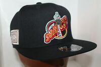 Seattle Supersonics Mitchell & Ness NBA Team Solid Hi Crown Fitted Cap,Hat   NEW