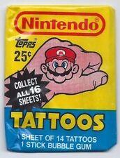 1989 TOPPS NINTENDO TATTOOS WAX PACK QTY!!! RARE