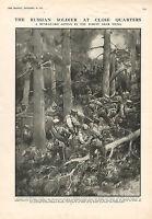 1915 WWI Estampado ~ Rear-Guard Acción en El Bosque Cerca De Vilna Rusa Soldado