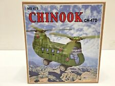 Tin Chinook CH-47D Toy Royal Air Force Helicopter Clockwise Windup, New in Box
