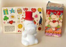 Vtg 1980 Huggable Hippo Hippopotamus Musk After Shave Figure Avon Box & Stickers