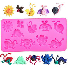Beetle Snail Spider Frog Bee Grasshopper Ladybug Insects Mould Soap Chocolate