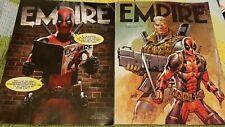 2 x Deadpool Empire Magazine Subscribers Covers 320 Feb 2016 & 350 Summer 2018