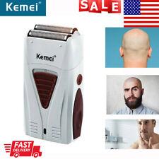 100%Kemei Men's Electric Shaver Trimmer Bald Razor Rechargeable Hair Beard Shave