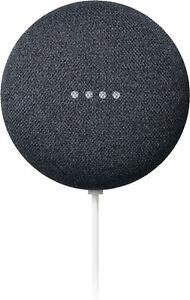 New Google Nest Mini (2nd Generation) Smart Speaker Charcoal**FACTORY SEALED**