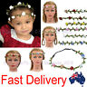 Floral Rose Flower Girl Wedding Fairy Party  Costume Wreath Hairband Headband
