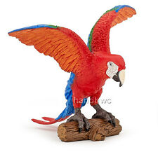 Papo 50158 Red Ara Parrot Bird Model Toy Replica Figurine - NIP