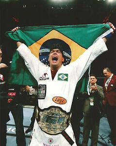 Lyoto Machida w/ Title Belt & Brazilian Flag UFC 98 8x10 Photo Picture Poster