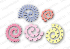 SPIRAL FLOWERS DIE-Impression Obsession/IO Stamps-Steel-Quilling/Quilled Roses