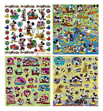 Disney Mickey Mouse & Friends Stickers Book Color Laser Cut Plastic 4 Sheets Set