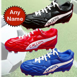 Football boots Money box with PERSONALISED  any name number or initials