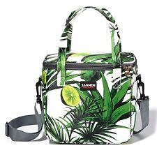 Large Cooler Bag Insulated Lunch Box Bag Outdoor Picnic Cooler Tote Women Green