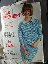Ihr Strickheft Nr. 2 Nadel- und Häkelarbeiten Sommermodelle 1968 Socpresse