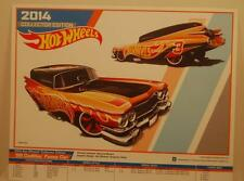 Hot Wheels 2014 KMart '59 Cadillac Funnycar Poster