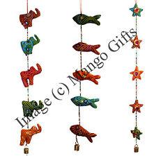 Handmade Indian Door Hanging Mobile Ornaments Elephant Xmas Decoration Lot 3 Pcs