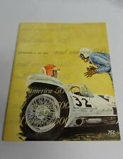 1961 Road America 500 SCCA Racing Race Program Corvette Jaguar Ferrari Ads ✔