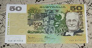 1985 Johnston Fraser OCRB 50 Dollar Note Uncirculated Scarce