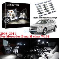 White Interior LED Light Kit For 2008-2011 Mercedes Benz M class W164  M +Tool