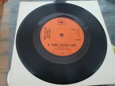 """JOHNNY CASH - A THING CALLED LOVE  7"""" VINYL CBS RECORDS 1972"""