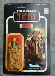 Vintage Star Wars Han Solo endor trench coat on ROTJ 77bk CAMO LAPELS