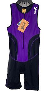 Sparx Women's Triathlon Suit Wet Racing Cycling Swim Run Bib Short Sz XL Purple