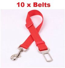 10 x Dog  Cat Pet Safety Seat Belt Adjustable Pet Lead Harness WHOLESALE JOB LOT