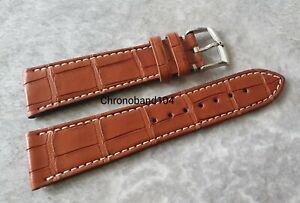 Genuine OEM Zenith 22/18mm Brown Alligator Leather Watch Strap/Buckle - UNUSED