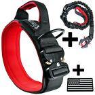 Tactical Dog Collar K9 Rugged Heavy Duty Handle Black + Red Ktactical Kit Patch