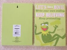 """NWT Hallmark 11""""  Wooden Kermit the Frog Muppets Life's Like Movie Wall Plaque"""