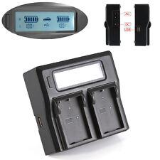 New LCD Dual Battery Charger For Nikon EN-EL9 EN-EL9A DSLR D3000 D5000 D40 D60