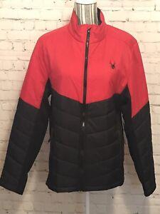 Spyder Ski Wear Jacket Racing Red & Black H2O Resistant ThermaWEB Men's Medium