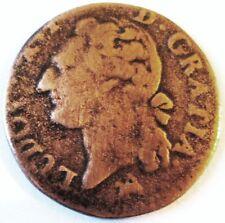 LOUIS XVI .LIARD A L'ECU.1791.B.ROUEN CUIVRE .POUR 24.6 MM CETTE PIECE.5.19 GR