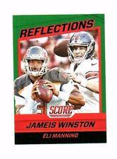 Jameis Winston, Eli Manning 2016 score, reflections, (Green), Football CARD!!!