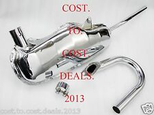 LAMBRETTA GP LI TV SX EXHAUST CHROME KIT SILENCER ASSEMBLY SET WITH U BEND 150CC