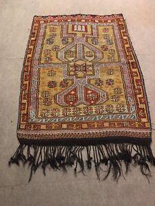 Antique Turkish Kilim Rug, Oriental Rug, Tribal Hand Woven Rug,  5.7''x 4'
