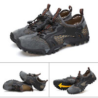 Men Breathable Mesh Shoes Outdoor Hiking Camping Light Quick Drying Casual Shoes