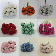 Artificial Flowers Small 2 cm Foam Roses - Bunch of 12 Wedding Bouquet