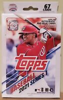 2021 Topps Series 1 Baseball Hanger Box 67 Cards NIB NEW Sealed In Hand Free S&H