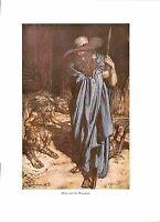 Arthur Rackham.1939.Opera print.Bargain.Wagner print.Mime.Beard.Cloak.Fantasy