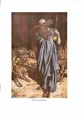 Arthur Rackham stampa.1939. opera di stampa. WAGNER print.mime.beard.hat.cloak