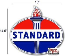 """16"""" OLD style  STANDARD TORCH GAS PUMP OIL TANK DECAL"""