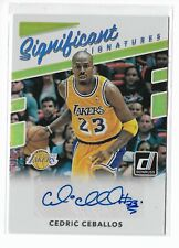 2017-18 Panini Donruss Significant Signatures Cedric Ceballos La Lakers