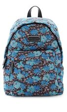 NWT Marc By Marc Jacobs Pretty Blue Floral Quilted Nylon Backpack