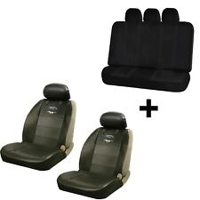 Synthetic Leather Seat Covers & U.A.A. Inc Black Bench Cover For Mustang