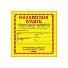 """""""Tape Logic Labels, """"Hazardous Waste - New Jersey"""", 6""""x6"""", 500/Roll"""""""