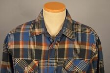 Vintage WINDBREAKER Mens XL Plaid Flannel Shirt Jacket w/ Quilted Lining