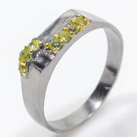 Christmas Gift Silver Ring Natural Peridot  925 Sterling Silver / RVS58