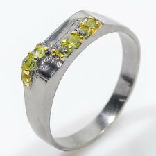 Sweet GEM&Jewelry! Natural Peridot 925 Sterling Silver Ring / RVS58